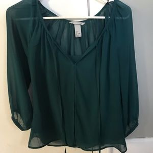 H&M light blouse with built in tank
